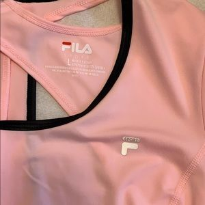 Fila Tops - FILA Pink With Black Workout Top NWOT
